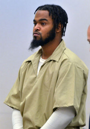 BYRD SENTENCING: Philip Byrd, 22, of Camden, arrives in court, Friday June 7, 2013, in Mays Landing, where he was sentenced to 47 years in prison. He pleaded guilty to a casino carjacking that left one man dead and his girlfriend injured. (The Press of Atlantic City/Staff Photo by Michael Ein)  - Michael Ein