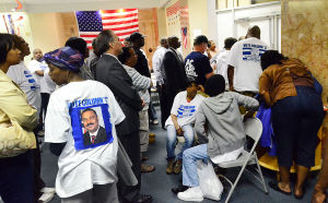 Atlantic City Primary: Crowd watches election numbers at Langford HQ. Tuesday June 4 2013 Atlantic City Primary elections. (The Press of Atlantic City / Ben Fogletto)  - Photo by Ben Fogletto