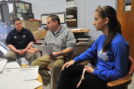 Oakcrest student fellowship gathers to cope together after Conn. shooting