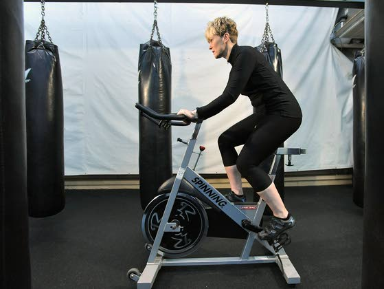 Your workout: Interval training on a Spin bike