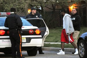 AC RAID: Isiah Pettis, 21, who is charged with distribution and conspiracy to distribute cocaine and heroin, was arrested Tuesday morning in the 1100 block of Reading Avenue with a home-detention ankle bracelet noticeable. Pettis is the younger brother of Shawn Pettis, named as a high-ranking member of 800 Blok, who was arrested in February after the investigation revealed he bought a stolen gun and allegedly was planning to kill a man.  - Michael Ein