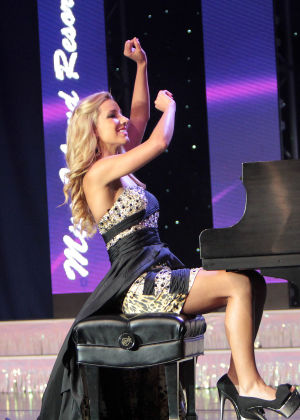 Miss New Jersey 2012 Crowned On Ocean City Music Pier: OCEAN CITY, NJ Cara McCollum, Miss Island Resort, 20 from Princeton is hears she has won the crown of Miss New Jersey 2013 plays piano in talent on the Ocean City Music Pier, Saturday evening, June 14, 2013  - Donald B. Kravitz