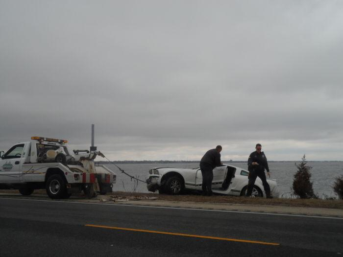 Police search car after rescue