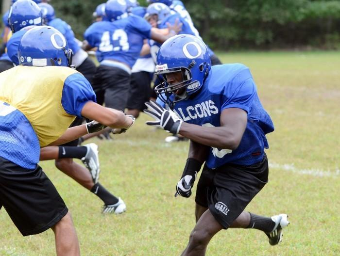 Oakcrest's Mark Clements at practice on Sept. 15, 2011