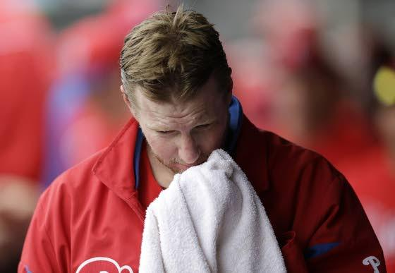 Phils' Halladay lasts only 1 inning due to illness