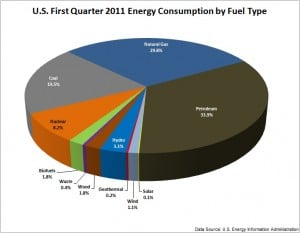 Energy Consumed in the U.S. by Fuel Type