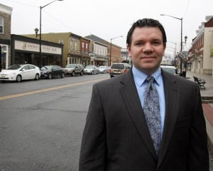 : Ben Ott is the president of Hammonton Mainstreet. Downtown Hammonton is being recognized as a semi-finalist in a national Great American Main Street Award. They are one of eight in the nation. Monday Feb 11, 2013. (Dale Gerhard/The Press of Atlantic City)  - Dale Gerhard