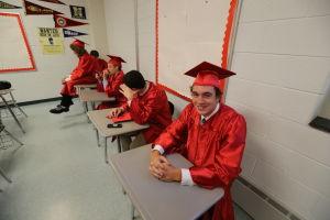 OCHS Graduation: Graduates get ready the start of their Graduation form Ocean City High School Friday, June 20, 2014. - Edward Lea