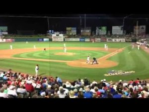 Roy Halladay pitches in Lakewood on Aug. 21, 2013