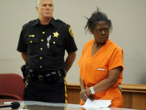 Pelzer Arraignment: Antionette Pelzer is arraigned May 22 in Mays Landing on charges of stabbing two Canadian women to death in Atlantic City.  - Photo by Danny Drake