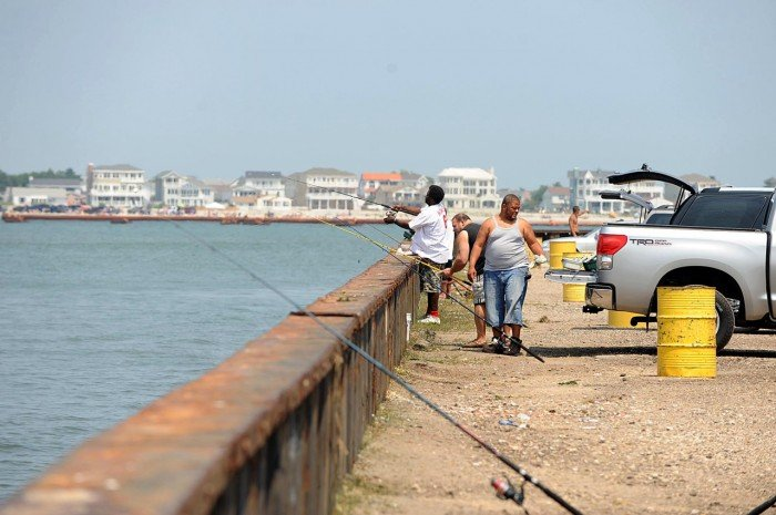 Fishermen seek upgrades to absecon inlet seawall in for Atlantic city fishing