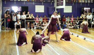 Teen Arts Festival: Piramotion students at Cedar Creek High School perform in Paul Morris' Dancexplosion class at county Teen Arts Festival in Hammonton Friday, May 2, 2014. - Edward Lea