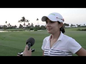 Paola Moreno leads after the second round of the Pure Silk-Bahamas LPGA Classic