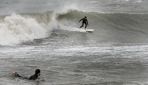 Sandy surfing