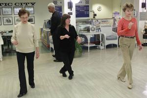 Ballroom dance class meets twice each week at Seashore Gardens