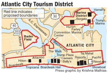 Tourism District proposal map