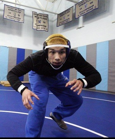 Antonio Mancella Oakcrest wrestler Feb. 2, 2012