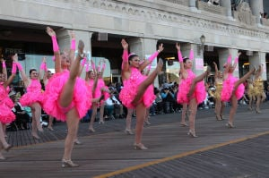 Miss America Parade: Performers entertain crowds during the Miss America Show Us Your Shoes parade on the Boardwalk in Atlantic City. - Vernon Ogrodnek