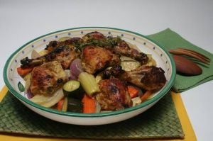 Vegetables and chicken combine for a spicy, healthy  summer meal