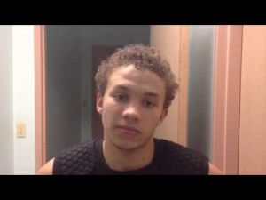 Postgame interview with Middle Township basketball player Darrell Shelton