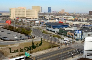 The Walk: Site of the Bass Pro Shops store at Missouri and Atlantic Avenues, in Atlantic City at lower left. Officials say construction the massive store will begin Oct. 1( Press of Atlantic City/ Danny Drake)  - Danny Drake