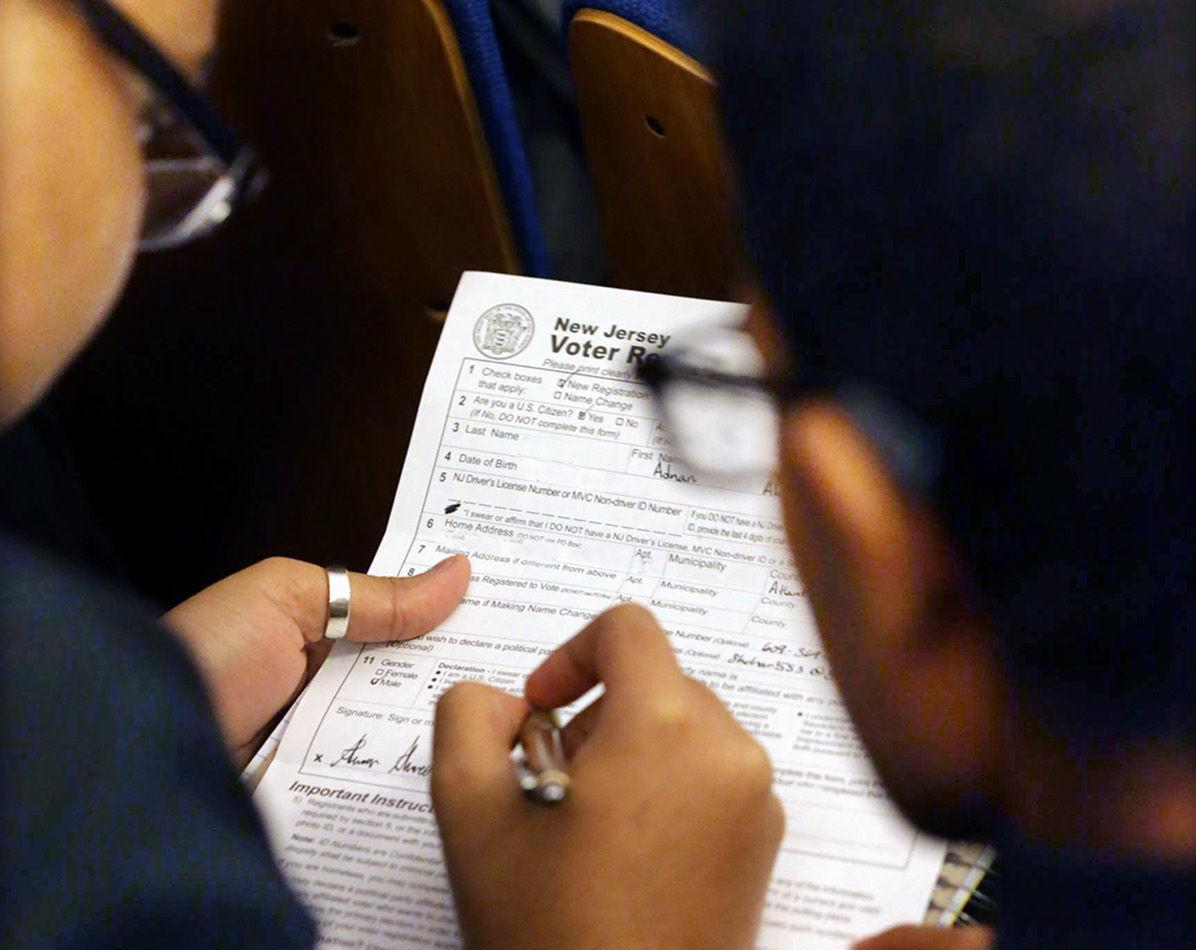 Voter Registration at Atlantic City High School