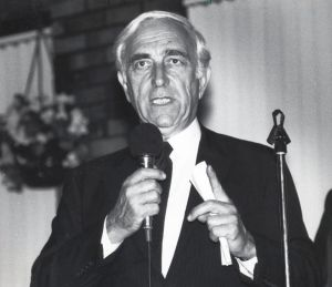 Lautenberg10.jpg: September 23, 1988. U.S. Sen. Frank Lautenberg, D-N.J. at the Cumberland County Democratic Fundraiser at Cohanzick Country Club.