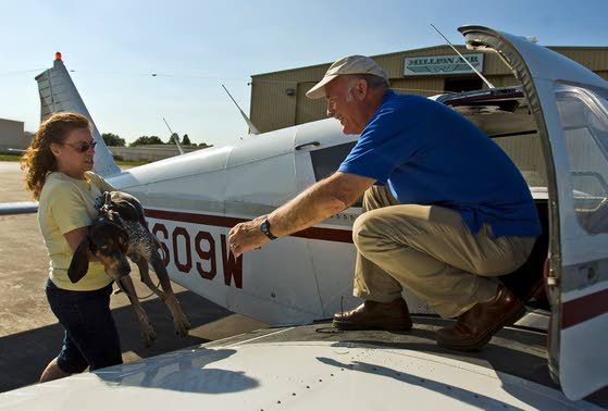 Pilots launch rescue highway in sky for pets