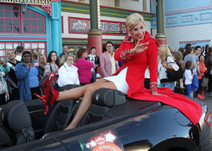 Miss America Parade: Miss Arkansas AMy Crain. Miss America