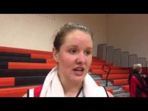 Ocean City's Julia Duggan talks about the Red Raiders' win over Middle Township, Fev. 5, 2013