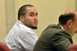 VARGAS TRIAL: Antonio Vargas, 24, listens to testimony, Tuesday June 4, 2013, in Mays Landing, during his trial in the deadly 2011 crash outside Gregory's Bar. (The Press of Atlantic City/Staff Photo by Michael Ein)  - Michael Ein