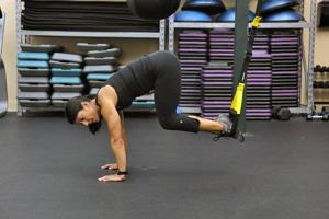 Your  Workout: TRX crunch