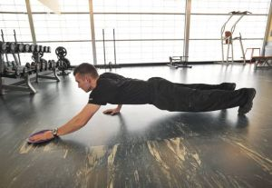 Your Workout: Push-up with gliding reach