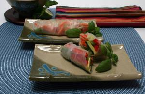 It doesn't take much to prepare  healthy vegetable spring rolls