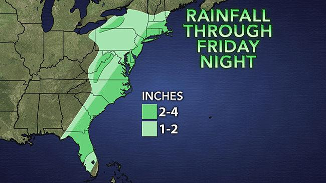 Rainfall from Andrea