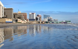 Atlantic City Skyline: The Atlantic City skyline, casinos, beach, Thursday Nov 8. 2012,  - Photo by Vernon Ogrodnek