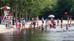 Lake: Visitors to Belleplain State Forest in Belleplain enjoy swimming in Lake Nummy. - Dale Gerhard