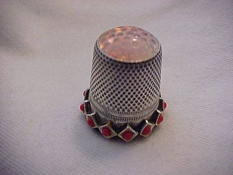 Antiques & Collectibles: Silver thimble is a flea market bonus
