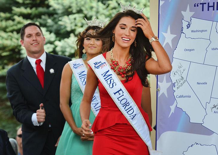 MISS AMERICA ARRIVES