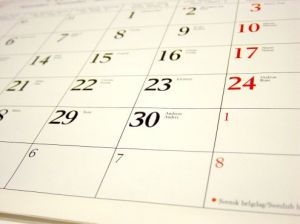 Calendar stock image