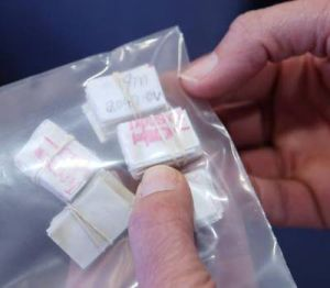 Heroin Bags: Samples of heroin confiscated in South Jersey. - Ed Lea
