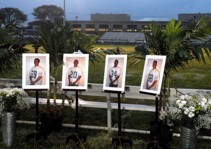 Vigil for Mainland High School students