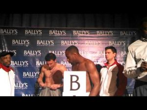 Chuck Mussachio vs. Lionell Thompson weigh-in