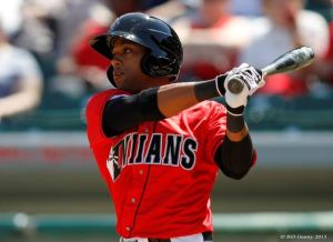 Ford One Call Away From Majors: Indianapolis Indians outfielder Darren Ford, a Vineland native, takes a swing against the Columbus Clippers on April 7. Ford is among the International League leaders in stolen bases and triples, though he is currently on the disabled list.