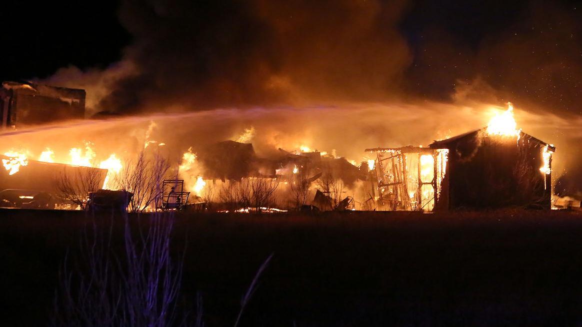 Fire Destroys Reeds Beach House