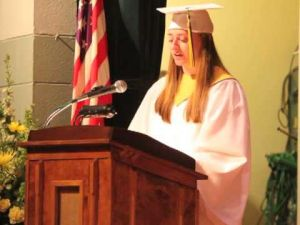 Valedictory speech by Samantha Robins of OLMA