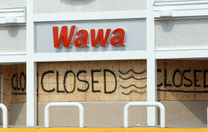 Iren Prep Cape: The Wawa on New Jersey Ave in Wildwood, was closed. Visitors and residents make preparation as Hurricane Irene approaches the Jersey Shore. Cape May County is under a mandatory evacuation for the approaching storm. Friday Aug. 26, 2011 (Dale Gerhard/Press of Atlantic City) - Dale Gerhard
