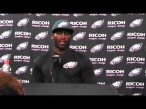 Eagles QB Michael Vick discussed the loss to the Chiefs