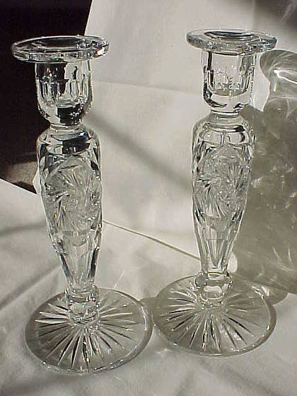 Antiques & Collectibles: Cut-glass candlesticks are heirloom treasure