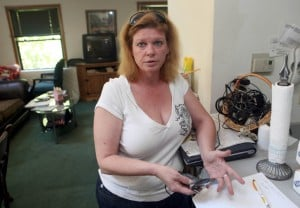 Hanging: Elnora Haring, of the Pomona section of Galloway Township,  Friday June 18, 2010, talks about her son, Richard Michael Long, Jr., who was found hanged, but alive, at the county jail Sunday. - Vernon Ogrodnek